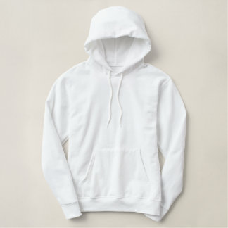 White Pullover Hoodie - add embroidery