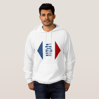White Pullover with hood FRANCE