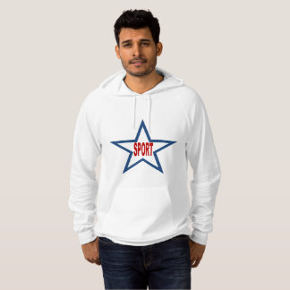 White Pullover with hood SPORT FRANCE