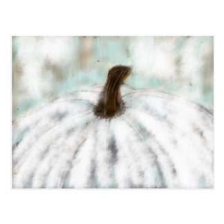 White Pumpkin Postcard