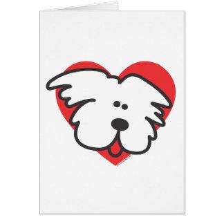 White Puppy Card