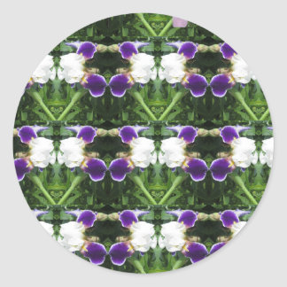 White Purple Green Show CherryHILL NVN217 NavinJOS Classic Round Sticker