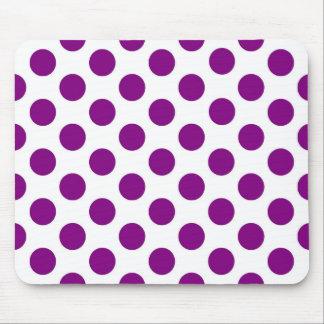 White purple polka dots - Mousepad