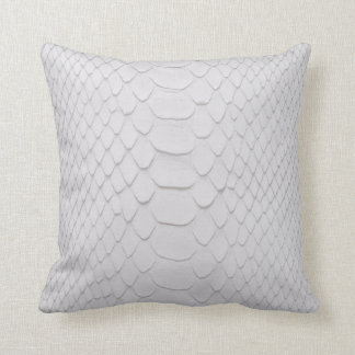 White Python Throw Pillow