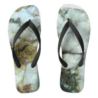white quartz flip-flops' flip flops