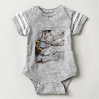White Quartz with Gold Veining Baby Bodysuit