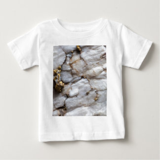 White Quartz with Gold Veining Baby T-Shirt