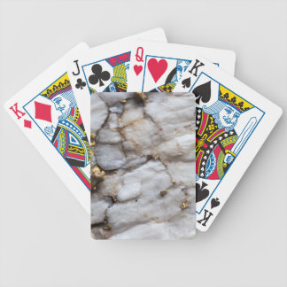 White Quartz with Gold Veining Bicycle Playing Cards
