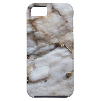 White Quartz with Gold Veining Case For The iPhone 5