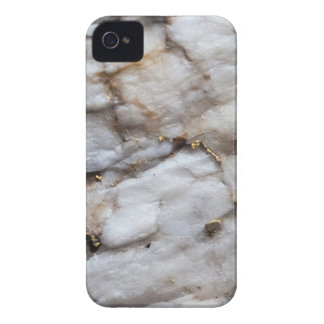 White Quartz with Gold Veining Case-Mate iPhone 4 Cases
