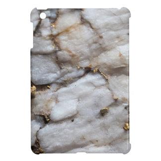 White Quartz with Gold Veining iPad Mini Covers