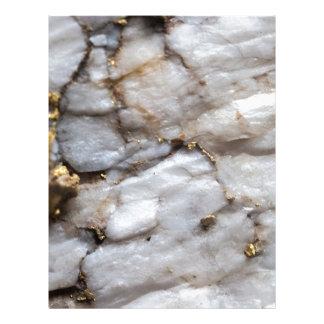 White Quartz with Gold Veining Letterhead