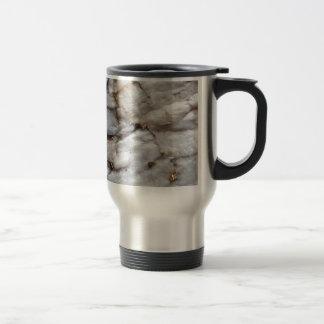 White Quartz with Gold Veining Travel Mug