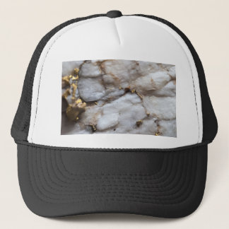 White Quartz with Gold Veining Trucker Hat