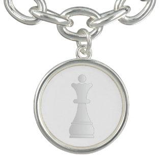 White queen chess piece bracelets