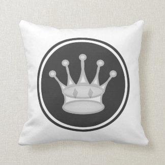White Queen Chess Piece Throw Pillow