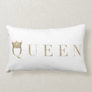 White Queen Throw Pillow