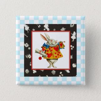 White Rabbit 2 2 Inch Square Button