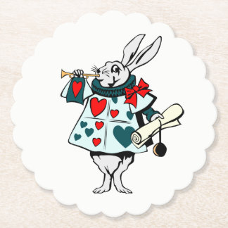 White Rabbit 4 Paper Coaster