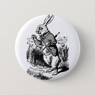 White Rabbit - Alice in Wonderland 2 Inch Round Button