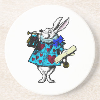 White Rabbit Alice in Wonderland Coaster