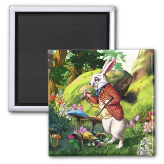 White Rabbit |Alice in Wonderland Easter Magnets