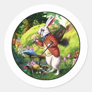 White Rabbit |Alice in Wonderland Easter Stickers
