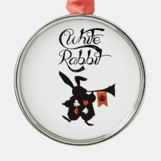 White Rabbit, Alice In Wonderland Metal Ornament