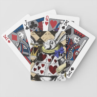 White Rabbit Alice in Wonderland Playing Cards! Bicycle Playing Cards