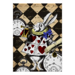 White Rabbit Alice in Wonderland Poster Print
