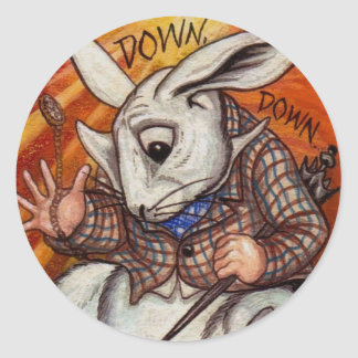WHITE RABBIT Alice in Wonderland Sticker