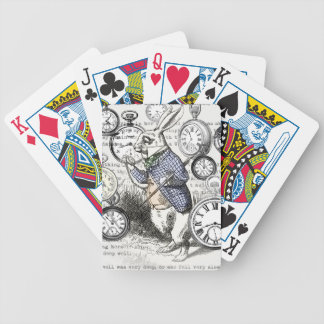 White Rabbit Alice in Wonderland Time Bicycle Playing Cards