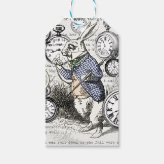 White Rabbit Alice in Wonderland Time Gift Tags