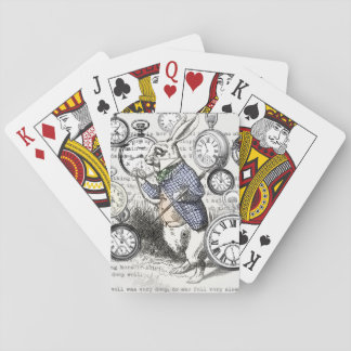 White Rabbit Alice in Wonderland Time Poker Deck