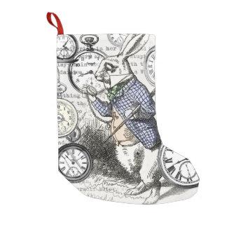White Rabbit Alice in Wonderland Time Small Christmas Stocking