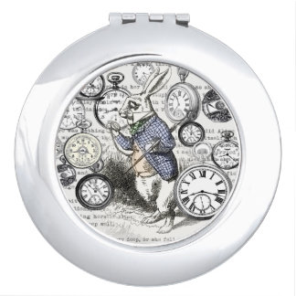 White Rabbit Alice Time Makeup Mirrors