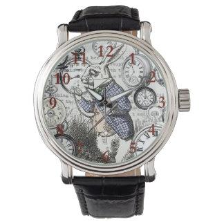White Rabbit Alice Time Wrist Watches