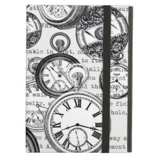 White Rabbit Alice Wonderland Clock Case For iPad Air