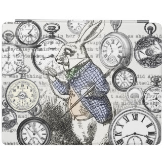 White Rabbit Alice Wonderland Clock iPad Cover