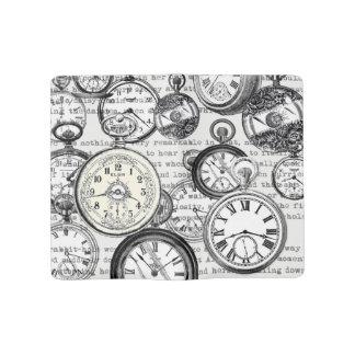 White Rabbit Alice Wonderland Clock Large Moleskine Notebook