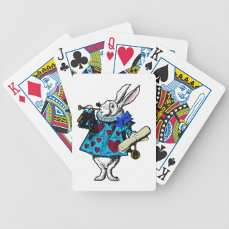 White Rabbit Alice Wonderland Deck Playing Cards