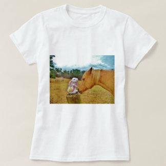 White Rabbit and Yellow Horse T-Shirt