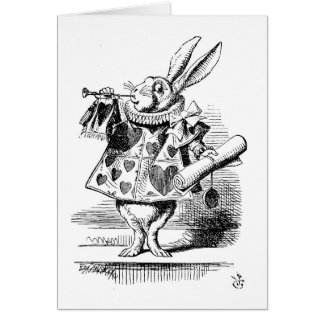 White Rabbit as a Herald, Greeting Card