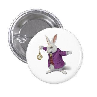 White Rabbit Badge 1 Inch Round Button