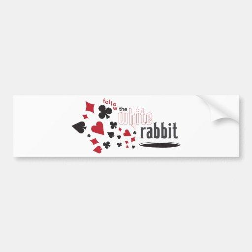 White Rabbit Bumper Stickers