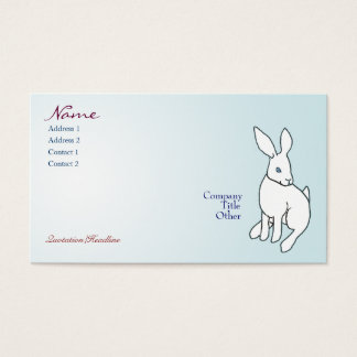White Rabbit Business Cards