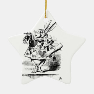 White Rabbit Ceramic Ornament