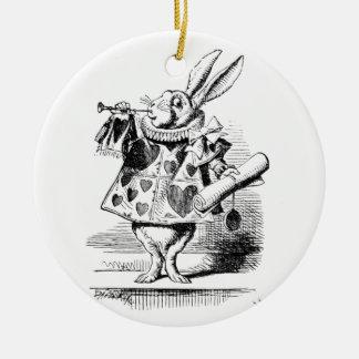 White Rabbit Ceramic Ornament