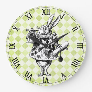 White Rabbit Checkered Wall Clock