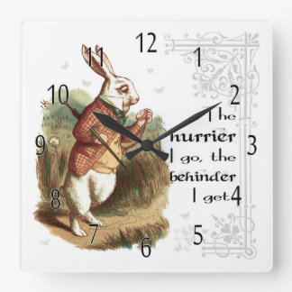 White Rabbit Clock, The Hurrier I go Wall Clocks